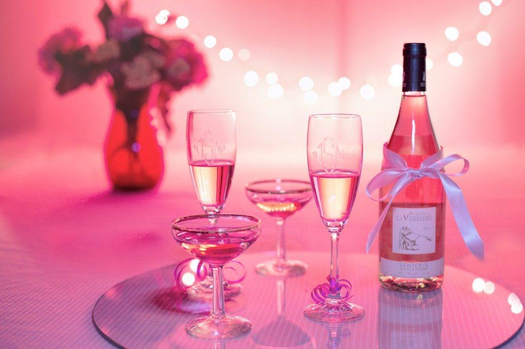 Vin pour la Saint Valentin